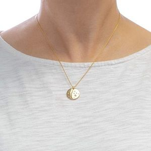 Pisces Zodiac Necklace | 14K Gold with CZ Stones
